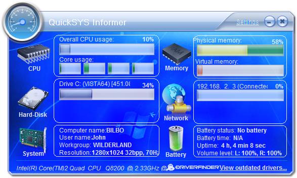 QuickSYS Informer - System Monitor Tool